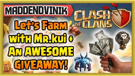 Clash Of Clans Account Giveaway 2014 - clash of clans let s farm on my 2nd account mr kui big giveaway gameplay
