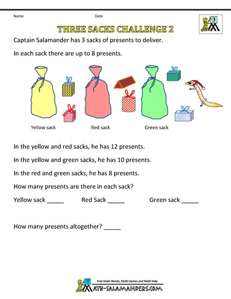printable math games for junior high christmas math worksheets