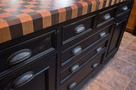 Kountry Kitchen Cabinets Checkerboard Butcher Block Designed By Foster Custom Kitchens