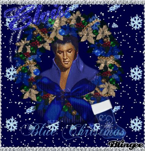 elvis blue christmas picture  blingeecom