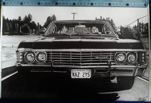 chevrolet impala 67 supernatural drawing by alainmi on
