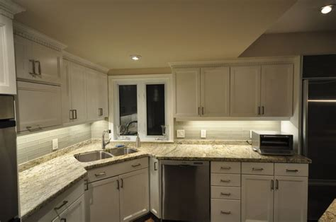 how to install led lights kitchen cabinets rab design s led lights install for cabinet