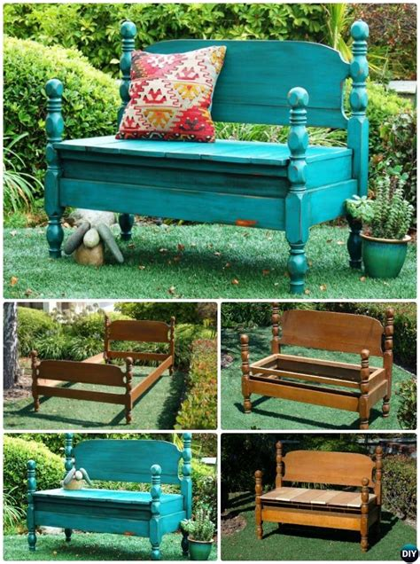 bed benches with storage diy bench from old door entry 8 diy bed frame garden bench projects picture instructions