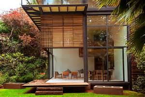 private garden in m 233 xico accommodating four wooden houses