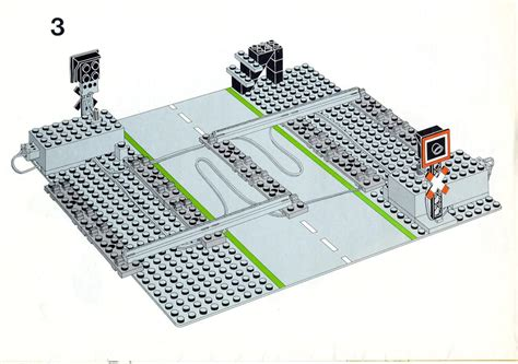 lego printable road pdf lego remote controlled road crossing 12 v instructions