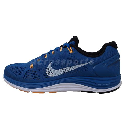 nike lunarlon mens running shoes nike lunarglide 5 v blue white 2014 mens running shoes