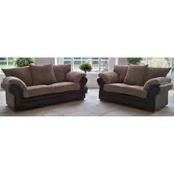 brown fabric 3 seater sofa 2 seater sofa and armchair