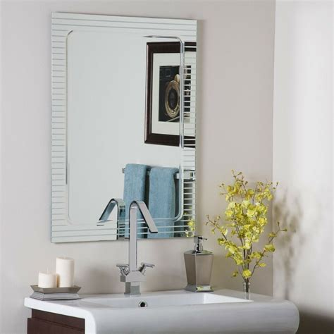 Wall Mirrors Bathroom - frameless bathroom wall mirror designer v groove ebay