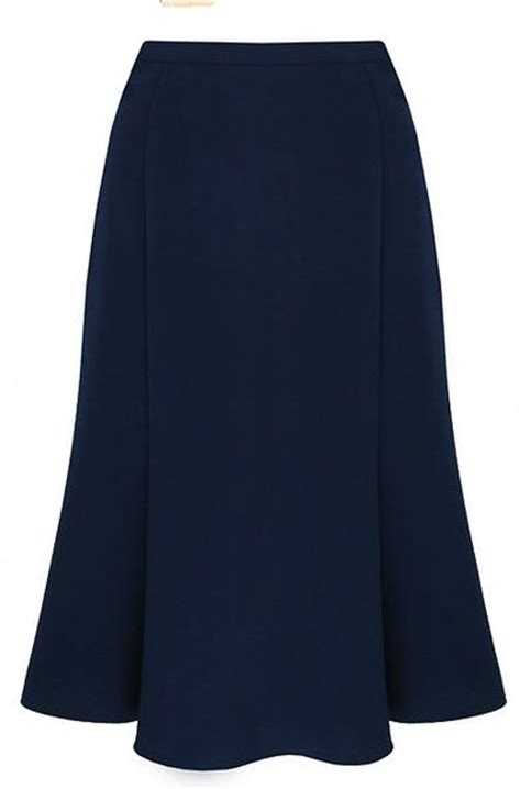 eastex navy fit and flare skirt in blue navy lyst