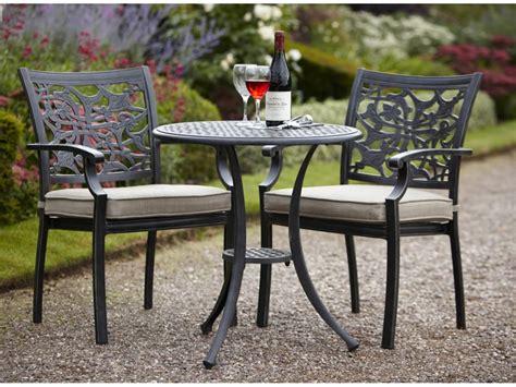 bistro set celtic cast aluminium garden bistro set in riven colour