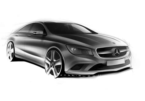 mercedes benz cla class design sketch car body design