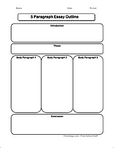 5 paragraph essay graphic organizer freeology