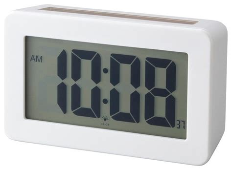 solar power digital clock modern alarm clocks  lbc