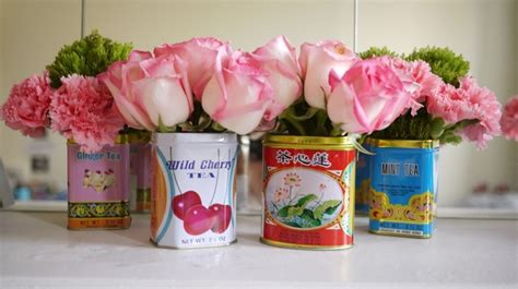 Tin Vases For Flowers by 187 Tea Tin Vases Scooter Diy Waterproofing Tins To