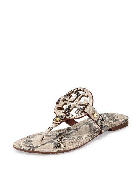 burch miller sandal burch miller lizardprint leather sandals in