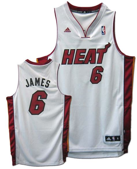 Jersey Basket Nba 52 lebron miami heat 6 revolution 30 swingman adidas nba basketball jersey home white