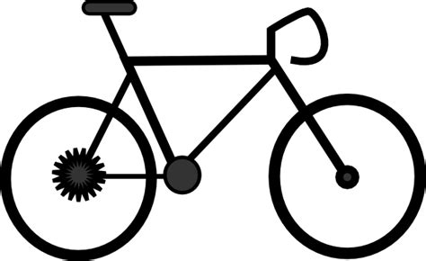 Road Bicycle Outline by Bike Clip At Clker Vector Clip Royalty Free Domain