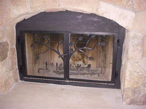 custom iron fireplace doors wrought iron custom build in fireplace doors do07