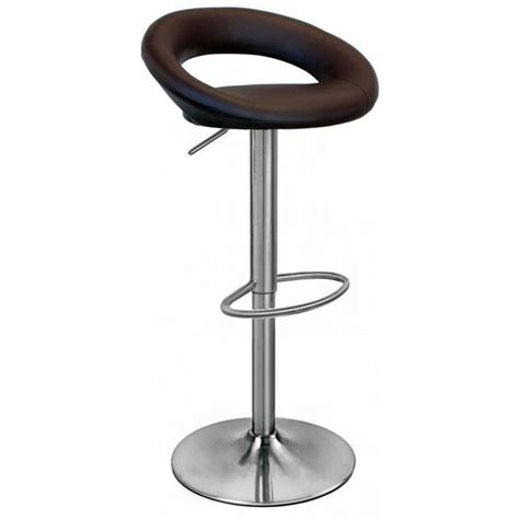sorrento leather brushed bar stool brown size x 555mm x