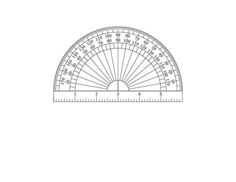 printable round ruler printable protractors