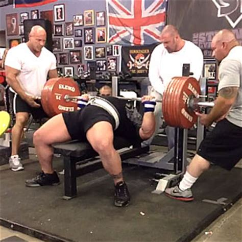 bench press record video eric spoto 327 5kg 722lbs bench press world record all things gym