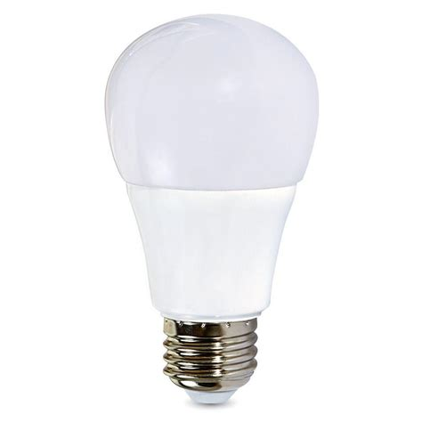 Led 60 Watt Equivalent Light Bulbs Verbatim 60 Watt Equivalent Daylight A19 Non Dimmable Led Light Bulb 98976 The Home Depot