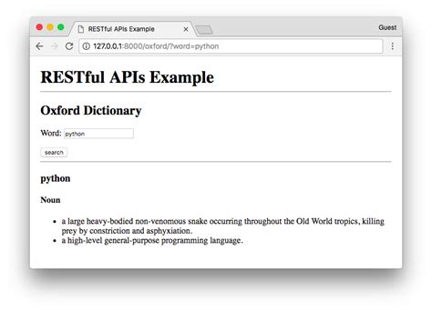 restful api documentation template how to use restful apis with django