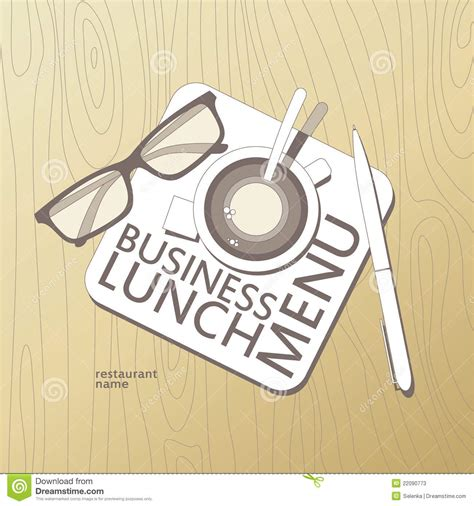 business lunch menu template stock photos image 22090773