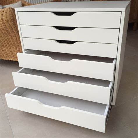 ikea 6 drawer unit ikea alex drawer unit on castors for sale in malahide