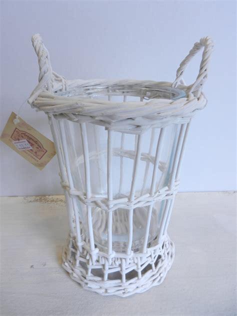 vasi in vimini vaso in vetro e vimini bianco cestenolvetri
