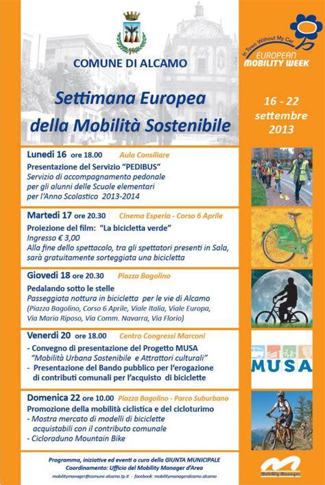 alcamo e la settimana europea della mobilit 224 sostenibile