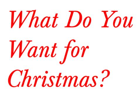 what do you want for christmas video