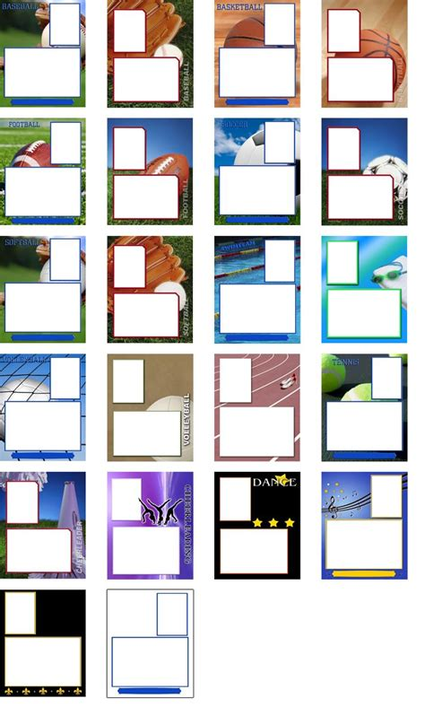 Memory Mates Templates by Memory Mate Sports Templates Free Professional Color