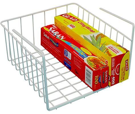 Shelf Basket Wrap Rack by Decobros Shelf Basket Wrap Rack White