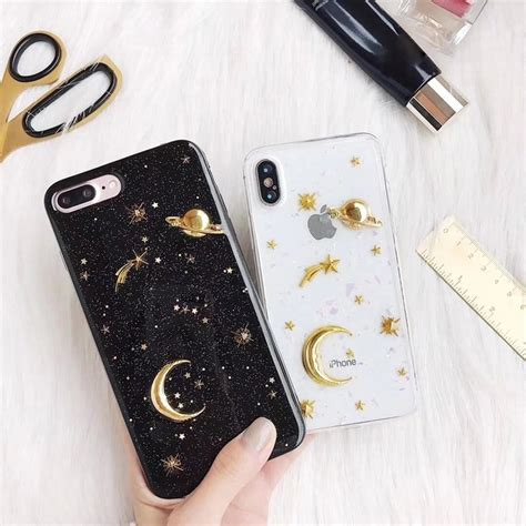 glossy moon planet phone for iphone 5g xs max xr shopee philippines