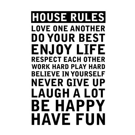 house rules home design personalised house rules wall sticker by leonora hammond
