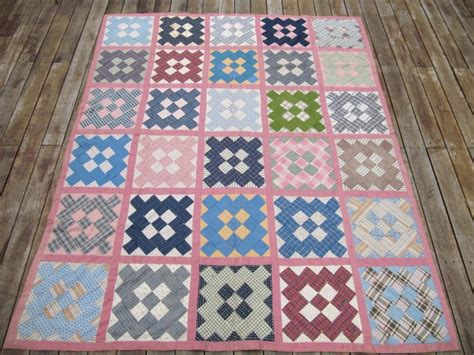 Antique Handmade Quilts Value - antique handmade patchwork quilt spread 1920s 5x6 pink