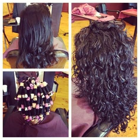 before and after of perms on thin hair spiral perm before and after yelp