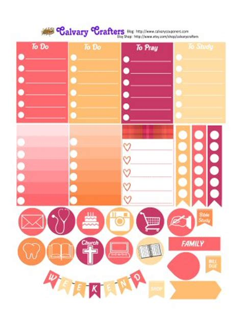 Big Happy Planner Printables freebie printable planner stickers for the big happy