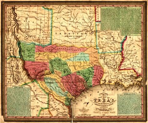 historic texas map 1835 in texas