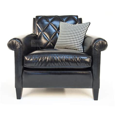 black sofa chair duresta gabrielle sofa and chair in black leather