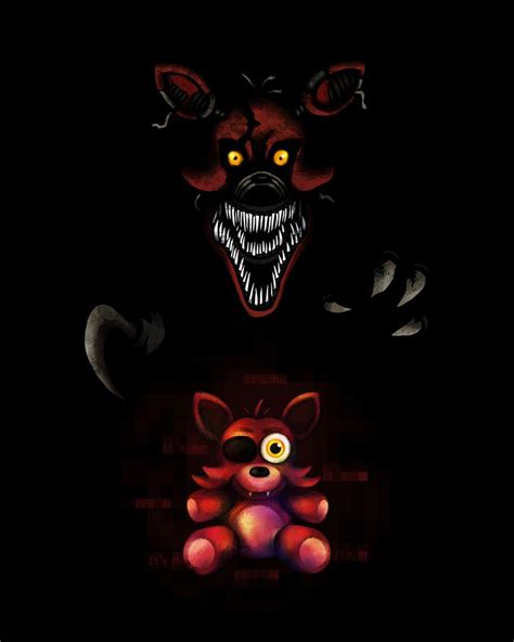 foxy five nights at freddys five nights at freddy s fnaf4 nightmare foxy by kaizerin