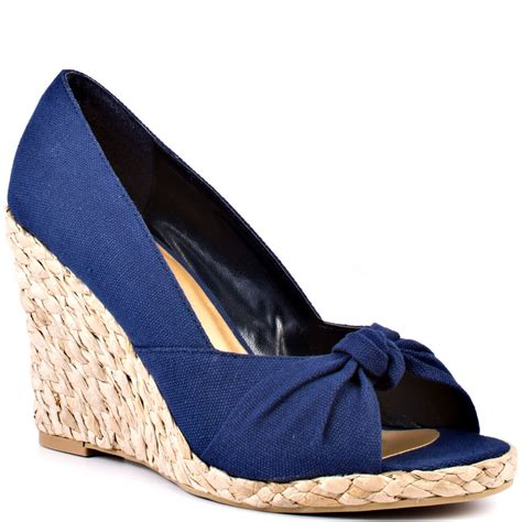 navy blue wedge heel shoes is heel