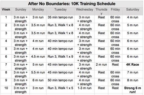 10k 10 Weeks by Search Results For 10k Schedule Calendar 2015