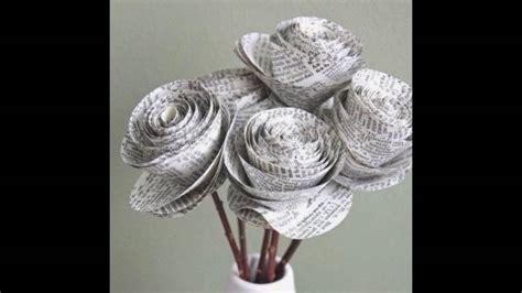 kerenn membuat kerajinan miniatur  kertas koran