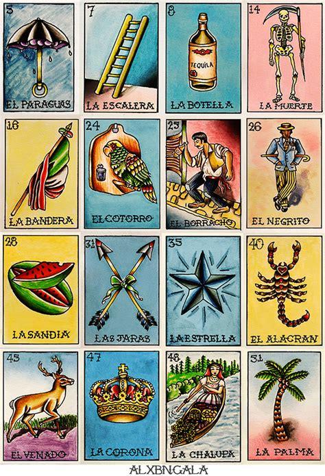 tablas de loteria mexicana para imprimir loteria tabla 2 on behance