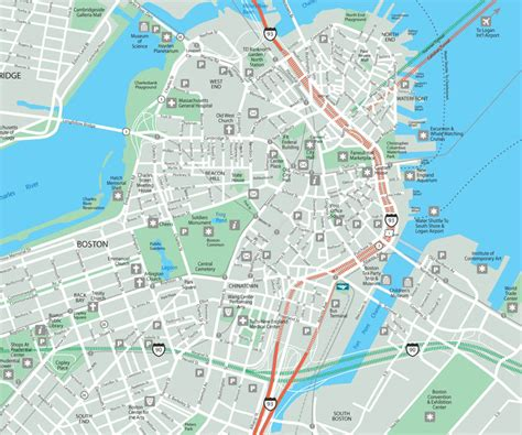 map boston map of boston free printable maps
