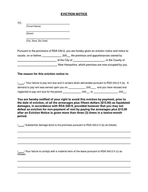 printable eviction notice form notice template category page 19 efoza com