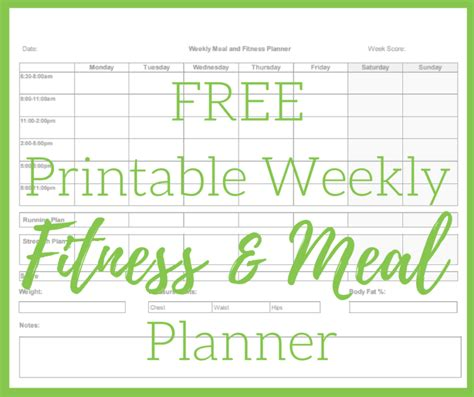 free printable fitness planner 2016 printable meal and fitness planner thinking outloud