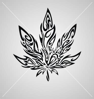 tribal leaf tattoo tribal marijuana leaf vector 1985642 jpg 380 215 400